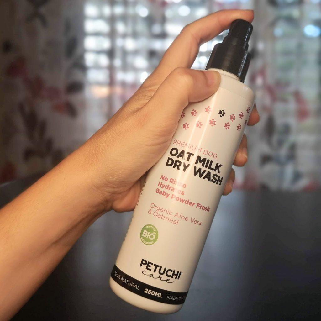 champú seco natural para perros